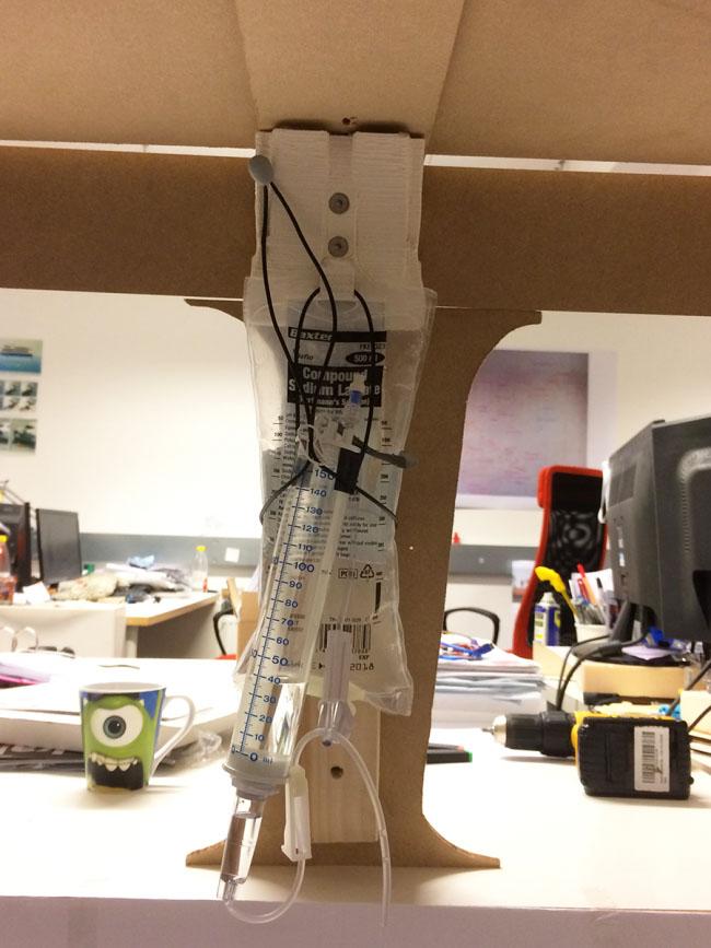 prototipo per sacca endovenosa